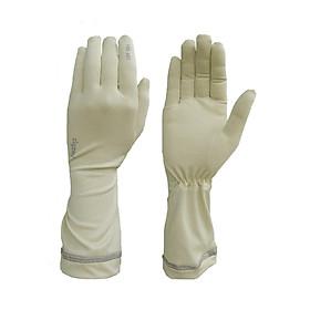Găng tay nữ chống nắng UPF50+ kem Zigzag GLV00307