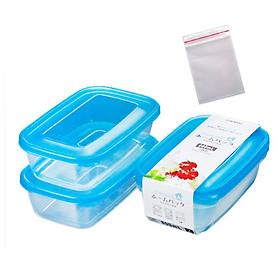 Set 2 hộp nhựa đa năng 800ml Nakaya tặng 2 zipper 11cm