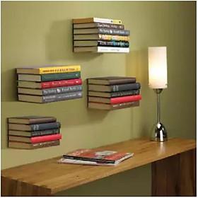 Combo 5 Kệ Giá Sách Treo Tường Trang Trí Đa Năng Decor Phòng Đọc Sách, Phòng Khách, Phòng Làm Việc