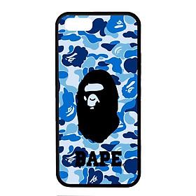 Ốp lưng dành cho Iphone 5 B.A.P.E Xanh Chữ - Hàng Chính Hãng