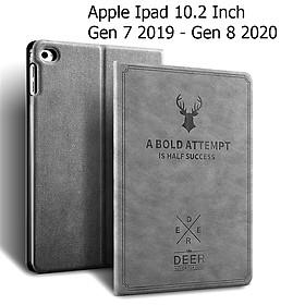 Bao Da Cover Dành Cho Apple Ipad 10.2 Inch 2019 Vân Da Tuần Lộc