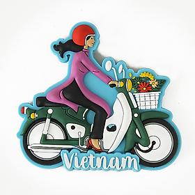 Nam Châm Lưu Niệm - Cô Gái Áo Dài - Xe Máy