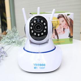 ( kèm thẻ nhớ 32G) Camera wifi trong nhà Yoosee Z02T 2.0 Full HD, 3 râu, xoay 360 độ , tương tác 2 chiều, hỗ trợ thẻ nhớ lên đến 128G, cảnh báo chuyển động – Hàng nhập khẩu