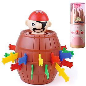 Đồ chơi trẻ em, đâm hải tặc runing man cao cấp cho trẻ từ 2 tuổi trở lên - Tặng bộ bút chì màu 12 chiếc bằng gỗ cho bé