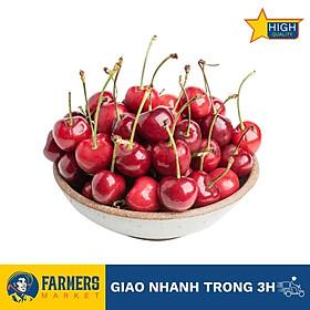 Cherry Đỏ Úc Size 26-28 - Trái căng đỏ, mọng nước, cherry đầu mùa có vị ngọt thanh xen chút chua nhẹ.
