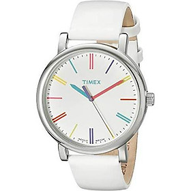 Timex Women's TW2P96200 Originals Tonal Beige Leather Strap Watch