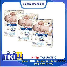 [COMBO 3 BỊCH] Bỉm Dán Moony natural S 58