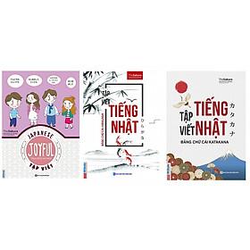 Combo 3 cuốn tập viết tiếng nhật hiragana, katakana, Joyful Japanese - Tiếng Nhật vui nhộn tặng sổ tay như hình
