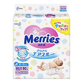 Combo 2 Gói Tã Dán Merries + 01 Gói Khăn Ướt Chăm Sóc Da Trẻ Em Merries (54 Miếng)-1