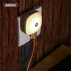 Remax RT-E515 LED Elves Night Light With 2.1A 2 USB Charger Adapter Wall Lamp