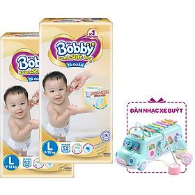 Combo 2 Tã Quần Bobby Extra Soft DryL52 - Tặng 1 Đàn Nhạc Xe Bus