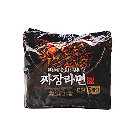 Lô 5 Gói Mì Trộn Tương Đen Hàn Quốc No Brand 135g