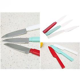 Bộ 3 dao gọt trái cây chuyên dụng có nắp tiệt trùng (Giao màu ngẫu nhiên) - Hàng nội địa Nhật
