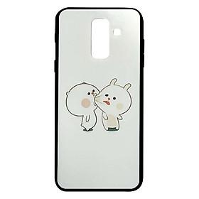 Hình đại diện sản phẩm Ốp Lưng Cứng Viền Dẻo In Hình Kute Cho Điện Thoại Samsung Galaxy A6 Plus - Mẫu 10