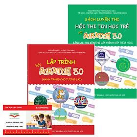Combo khóa học lập trình Scratch 3.0 Nâng cao kèm sách lập trình với Scratch 3.0 và sách Luyện thi tin học trẻ cấp Tiểu học
