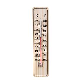Nhiệt kế Đo nhiệt độ phòng, tủ lạnh, chuồng nuôi treo tường bằng gỗ