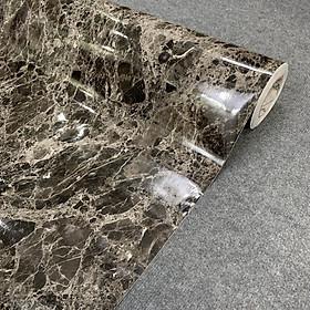 Decal vân đá hoa cương màu đen - Giấy dán tường bàn tủ bếp có sẵn keo ( khổ 1,2m - Mẫu D7 )