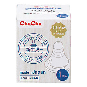 Núm Ti Silicone Siêu Mềm Chuchu Baby 1Pc (Box Type)