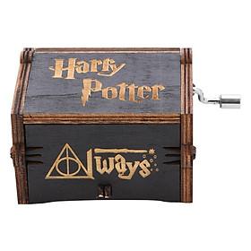 Hộp Nhạc Gỗ Harry Potter - Hedwig's Theme - Đen