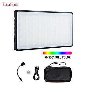 Bảng Đèn Led Mini Hỗ Trợ Quay Phim Chụp Ảnh Litufoto Mini Pocket Rgb Ánh Sáng 3200K-5600K Ra>96+ 360 9 Màu Sắc