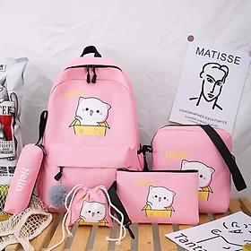 Balo 4 món Combo học sinh sinh viên giá rẻ balo nữ thời trang ( không kèm túi rút)