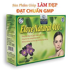 Elove Natural 400 - Hỗ trợ chống oxy hóa, Hạn chế lão hóa da, Giúp làm đẹp da, Giảm nếp nhăn, thâm nám, sẹo, mụn trứng cá (Hộp 30 viên)