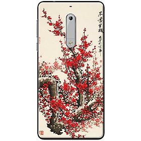 Ốp lưng dành cho  Nokia 5  mẫu Hoa đào thư pháp