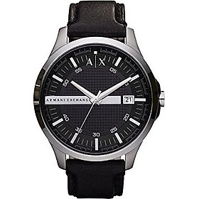Armani Exchange Men's AX2101  Silver  Leather Watch