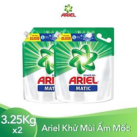 Combo 2 Nước Giặt Ariel Matic Đậm Đặc (3.6Kg/ Túi)