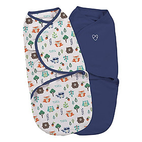 Bộ 2 Chăn Quấn Into The  Woods Boy Summer Infant (Original Swaddle - Into The  Woods Boy - Small - 2Pk Bag)