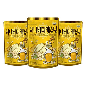Combo 3 gói Hạt điều tẩm bơ mật ong Hàn Quốc Tomsfarm HoneyButter Cashewnut 210g x 3ea