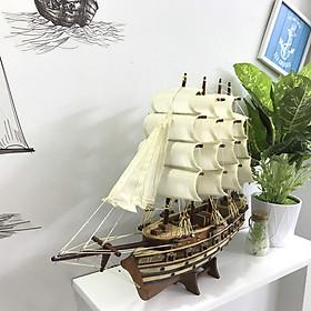 Mô hình thuyền gỗ trang trí Jylland - thân 40cm - loại 2