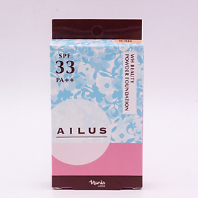 Phấn nền sáng da Naris Ailus WH Beauty Powder Foundation