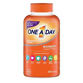 Viên uống Vitamin tổng hợp cho Nữ - One A Day women Multivitamin 300 viên của Mỹ - mẫu mới