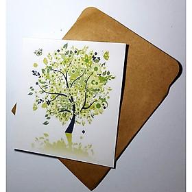 Thiệp in hình cây phong cách làm card quà cám ơn ,chúc mừng sinh nhật và giử tặng người thân yêu