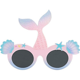 Sparkling Bling Mermaid Shape Sunglasses Novelty Party Outfit Eyewear for Girls