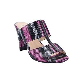 Guốc Da Thật 7 Phân Gosto Snake Me Leather Sandal GDW019600PIN (Hồng)