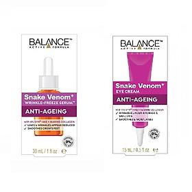 Bộ serum dưỡng da và kem dưỡng mắt Balance Snake Venom