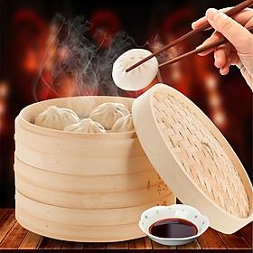 Xửng Hấp Bánh Bao DimSum Bằng Tre (1 tầng)