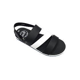 Giày Sandal 3 Quai Ngang Nam Everest - Eve01 D37 (Đen Phối Trắng)