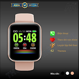 Đồng Hồ Thông Minh AMA Watch S2   Nam Nữ   Chống nước   Kết nối Bluetooth gọi Điện thoại Theo dõi Sức khỏe Vận động Màn hình cong tràn viền Hàng nhập khẩu