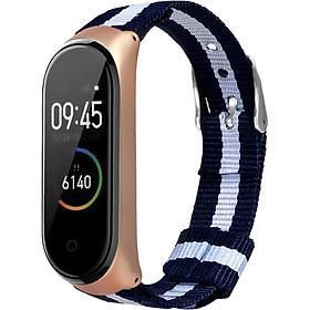 〖Follure〗Luxury Nylon Ultrathin Metal Wristband Strap Watch Band For Xiaomi Mi Band 4