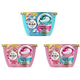 Combo 3 hộp 18 viên nước giặt xả hương hoa nội địa Nhật Bản
