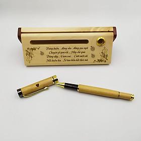 Bộ bút gỗ cao cấp tặng bạn bè_mẫu 01 (Kèm hộp đựng sang trọng)