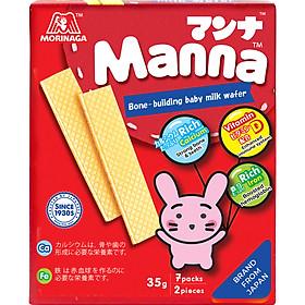 Bánh xốp sữa Morigana Manna - Manna Milk Wafer (52g)