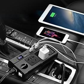 Bộ Chuyển Đổi Nguồn Trên Ô Tô, 2 Cổng Tẩu, 4 Cổng Sạc USB, 3 Chân Cắm Điện