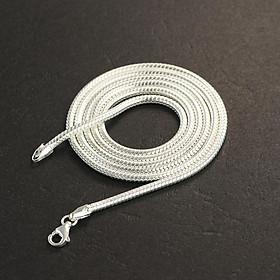 Dây chuyền bạc nam TNJ sợi nhỏ tròn trơn DCK0007