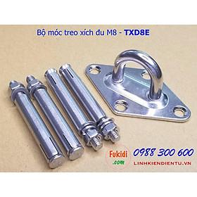 Móc treo xích đu, treo ghế đu, treo võng, treo nội thất lên trần nhà inox 316 size M8 - TXD8E