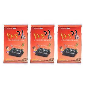 Lốc 3 Gói Rong Biển Khô Vị Ớt Cay Chili Seasoned Laver Namkwang Food (3 gói x 5g)
