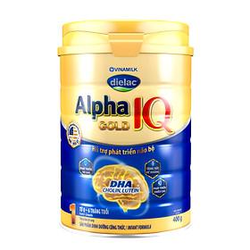 HỘP SỮA BỘT VINAMILK DIELAC ALPHA GOLD IQ 1 (400G) (CHO TRẺ TỪ 0 - 6 THÁNG TUỔI)